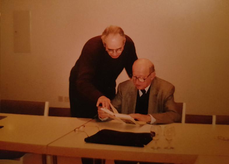 Mit Manfred Schmitt-Brabant und Johannes Kühl (Bild unten) bei der Klausur des Hochschulkollegiums in L`Aubier.
