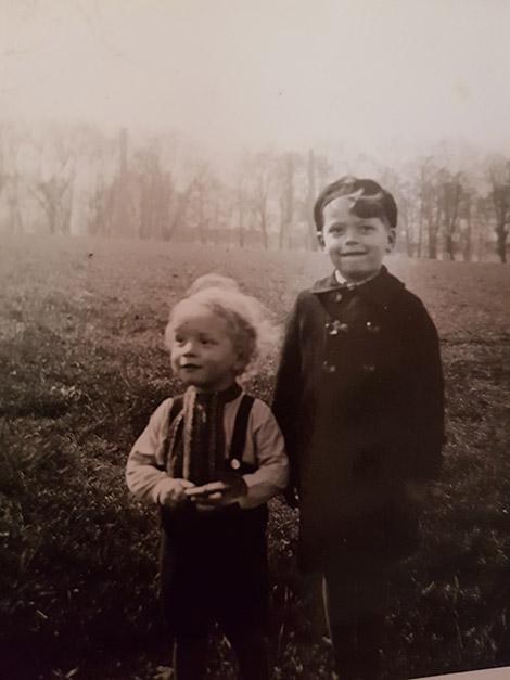 Georg und sein Bruder Siegfried.