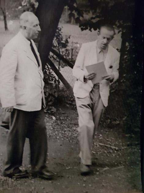 Gerbert Grohmann Botanik und Herbert Hahn (links), Religion