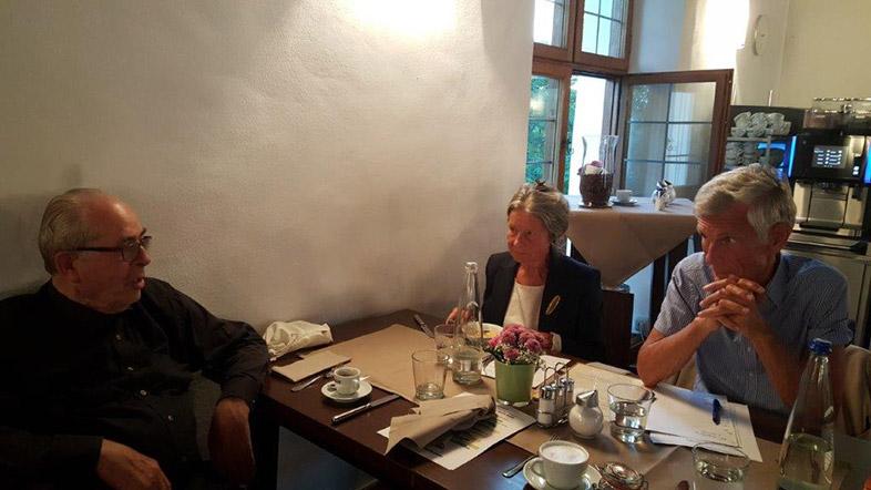 Treffen mit den Freunden Antonia und Michael Harslem im Kloster Seeon Herbst 2017.