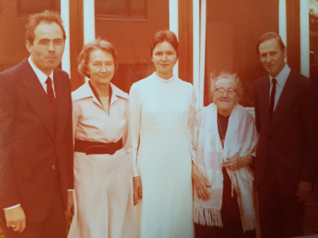 Georg und Michaela mit den Schwiegereltern.
